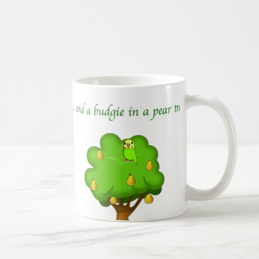 Budgie in a Pear Tree Coffee Mug