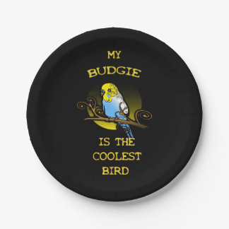 Budgie is the Coolest Bird Paper Plate