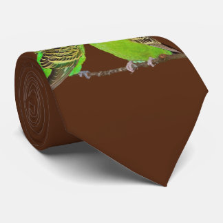 Budgie Kisses Tie Double Sided Print