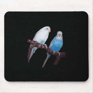 Budgie pair mousepad