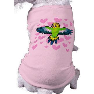 Budgie / Parakeet Love Sleeveless Dog Shirt