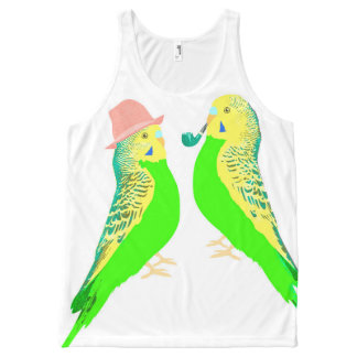 Budgie talk All-Over print singlet