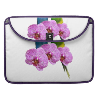 Budgie with Purple Orchid Sleeve For MacBooks