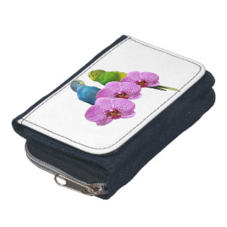 Budgie with Purple Orchid Wallet