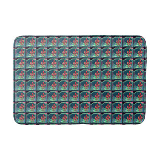 Buds from Above Pattern Bath Mat