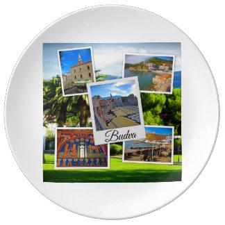 Budva Montenegro Collage Plate