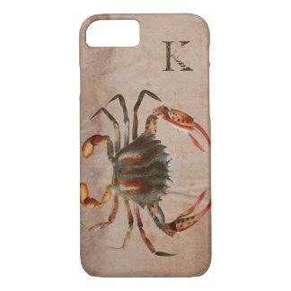 Bue Crab Shabby Design iPhone 7 Case