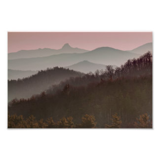 Bue Ridge Mountain Sunset in North Carolina Photo