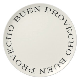 Buen Provecho Typography Dinner Plate