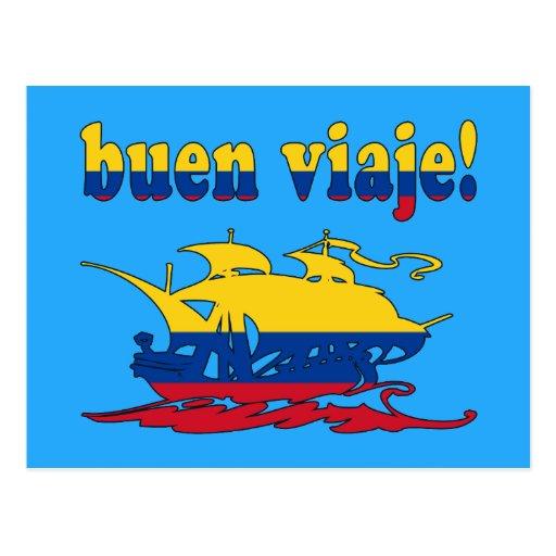 Buen Viaje - Good Trip in Colombian - Vacations Postcard