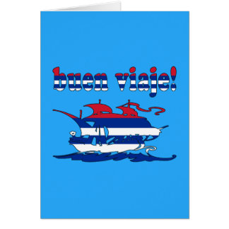 Buen Viaje - Good Trip in Cuban - Vacations Note Card