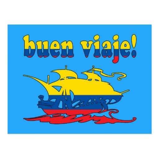 Buen Viaje - Good Trip in Ecuadorian - Vacations Post Cards