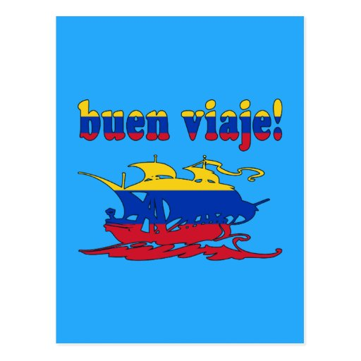 Buen Viaje - Good Trip in Venezuelan - Vacations Post Cards