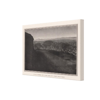 Buena Vista Park, City, from Twin Peaks Stretched Canvas Print