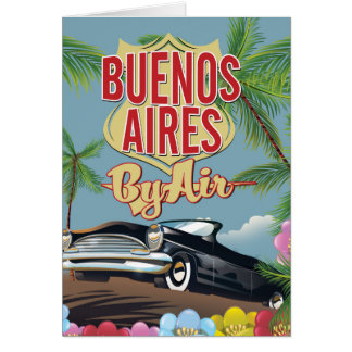 Buenos Aires, Argentina vacation poster Card