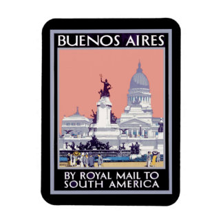 Buenos Aires by Royal Mail Poster Rectangular Photo Magnet