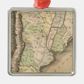 Buenos Aires, Chile, and Patagonia Silver-Colored Square Decoration