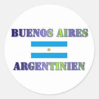 Buenos Aires Classic Round Sticker