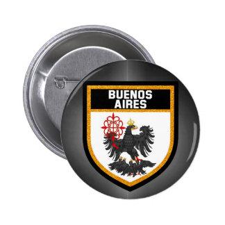 Buenos Aires Flag 6 Cm Round Badge