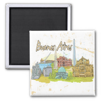 Buenos Aires Square Magnet