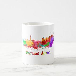 Buenos Aires skyline in watercolor Coffee Mug