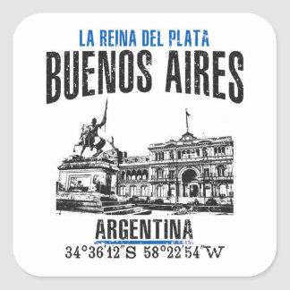 Buenos Aires Square Sticker