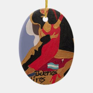 Buenos Aires Tango Ceramic Ornament