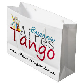 Buenos Aires Tango Made in Argentina Large Gift Bag