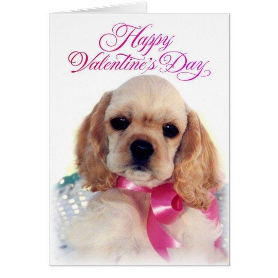 Buff Cocker puppy Card