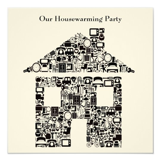 Buff House Home Housewarming Party Invitation