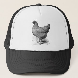buff plymouth rock hen trucker hat