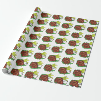 Buffalo BBQ Chicken Wings Foodie Gift Wrap