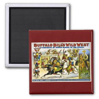 Buffalo Bill 1899 - Arab Horsemen Square Magnet