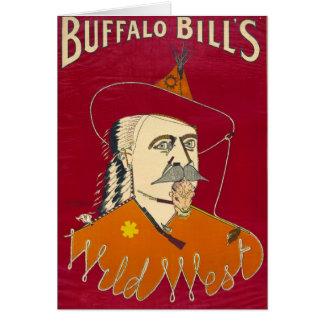 Buffalo Bill Advertisement 1890 Greeting Card