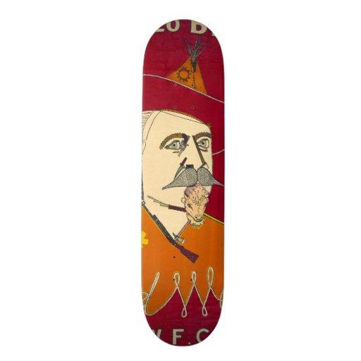 Buffalo Bill Advertisement 1890 Skate Board Deck