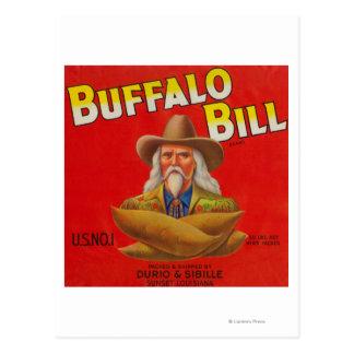 Buffalo Bill Brand Yam Crate Label Postcard