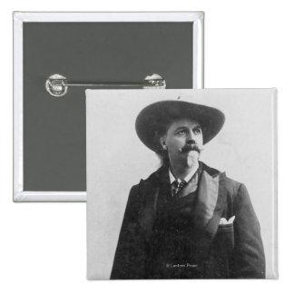 Buffalo Bill Portrait 15 Cm Square Badge