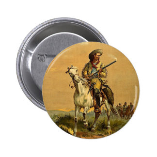 "Buffalo Bill ""The Scout"" Vintage Advertisement 6 Cm Round Badge"