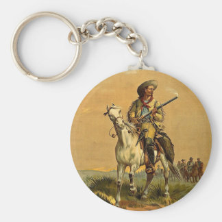 """Buffalo Bill """"The Scout"""" Vintage Advertisement Key Ring"""