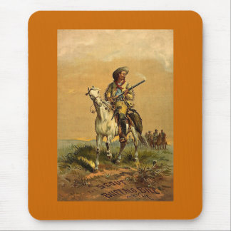 """Buffalo Bill """"The Scout"""" Vintage Advertisement Mouse Pad"""