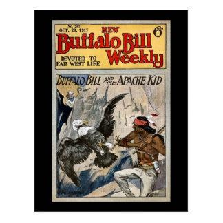 Buffalo Bill Weekly 1917 - The Apache Kid Postcard