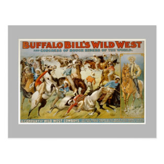 Buffalo Bill wild west show, c1899. Postcard