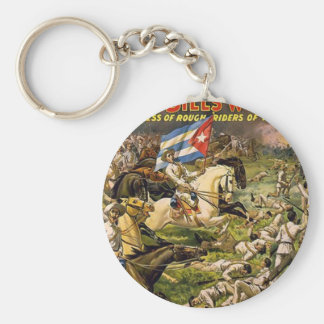 Buffalo Bill's wild west and congress of rough rid Basic Round Button Key Ring