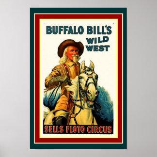 Buffalo Bill's Wild West Poster 13 x 19