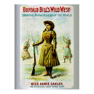 Buffalo Bill's Wild West Poster Annie Oakley Postcard