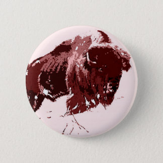Buffalo - Bison 6 Cm Round Badge