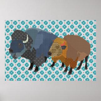 Buffalo Blue Art Poster
