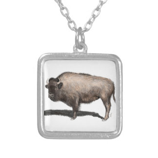 Buffalo, Bubalus Silver Plated Necklace