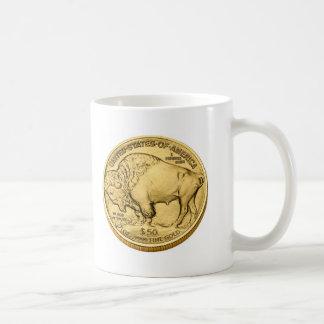 Buffalo Bullion Gold Coin Basic White Mug