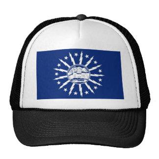 buffalo city flag united state america new york mesh hat